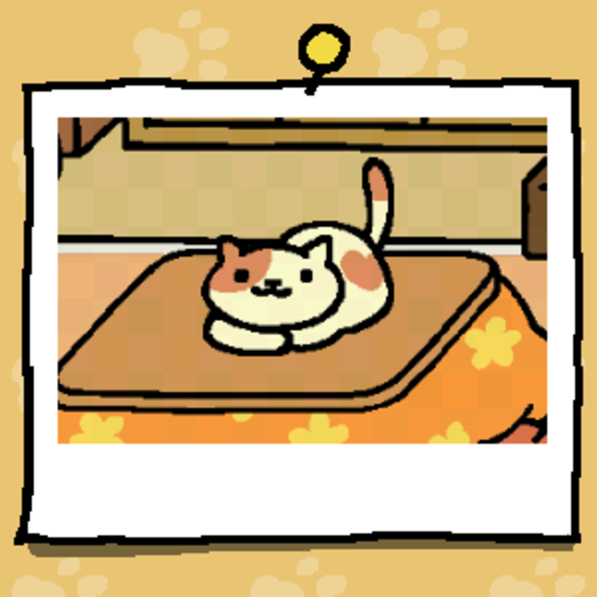 This is the snap of Peaches that I got when they used the Kotatsu.