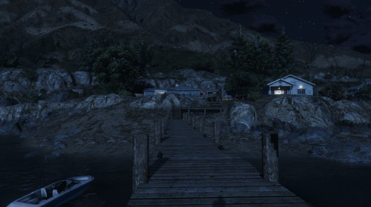 The pier leading to the Lost hangout, just out of shot is where the water container (to take cover behind) is located.