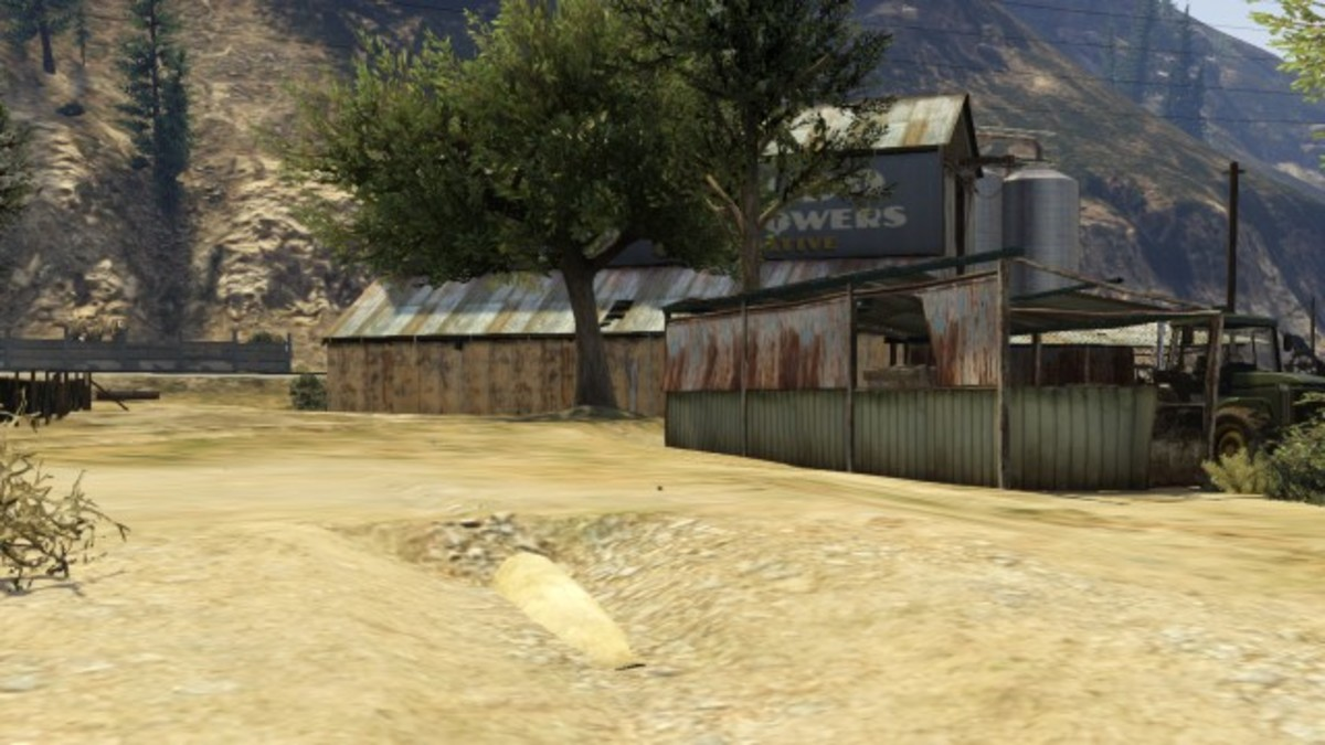 After clearing out the first group of Feds take cover behind this shack to take on the ones by the barn.