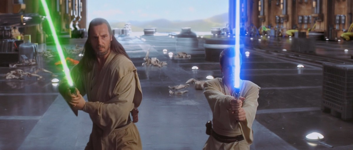 Qui Gon Jinn and his padawan, Obi Wan Kenobi