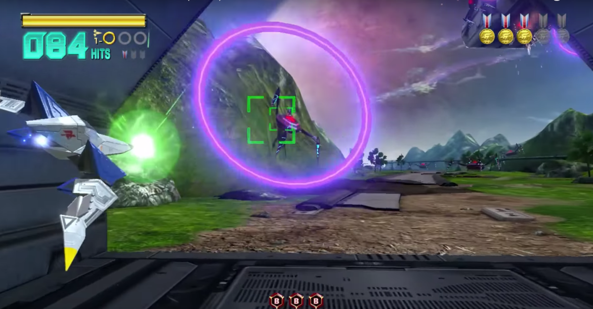 The alternate path through Corneria in Star Fox Zero.