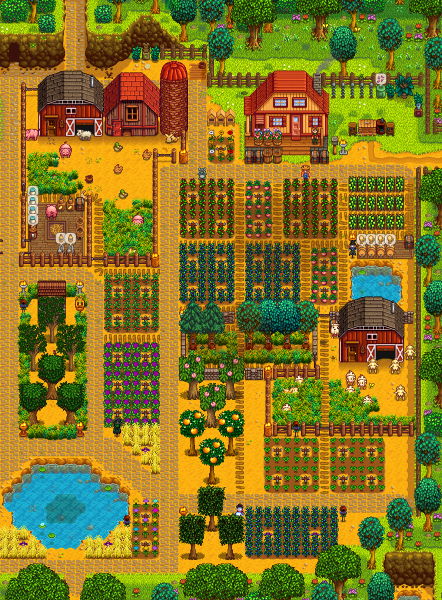 Your farm is fully customizable, with the right materials.