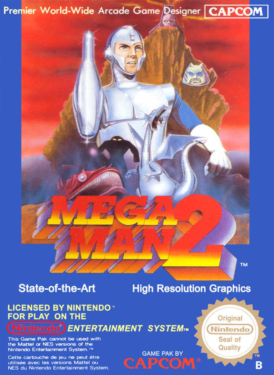 Box art for the PAL Region version of Mega Man 2 / Rock Man 2