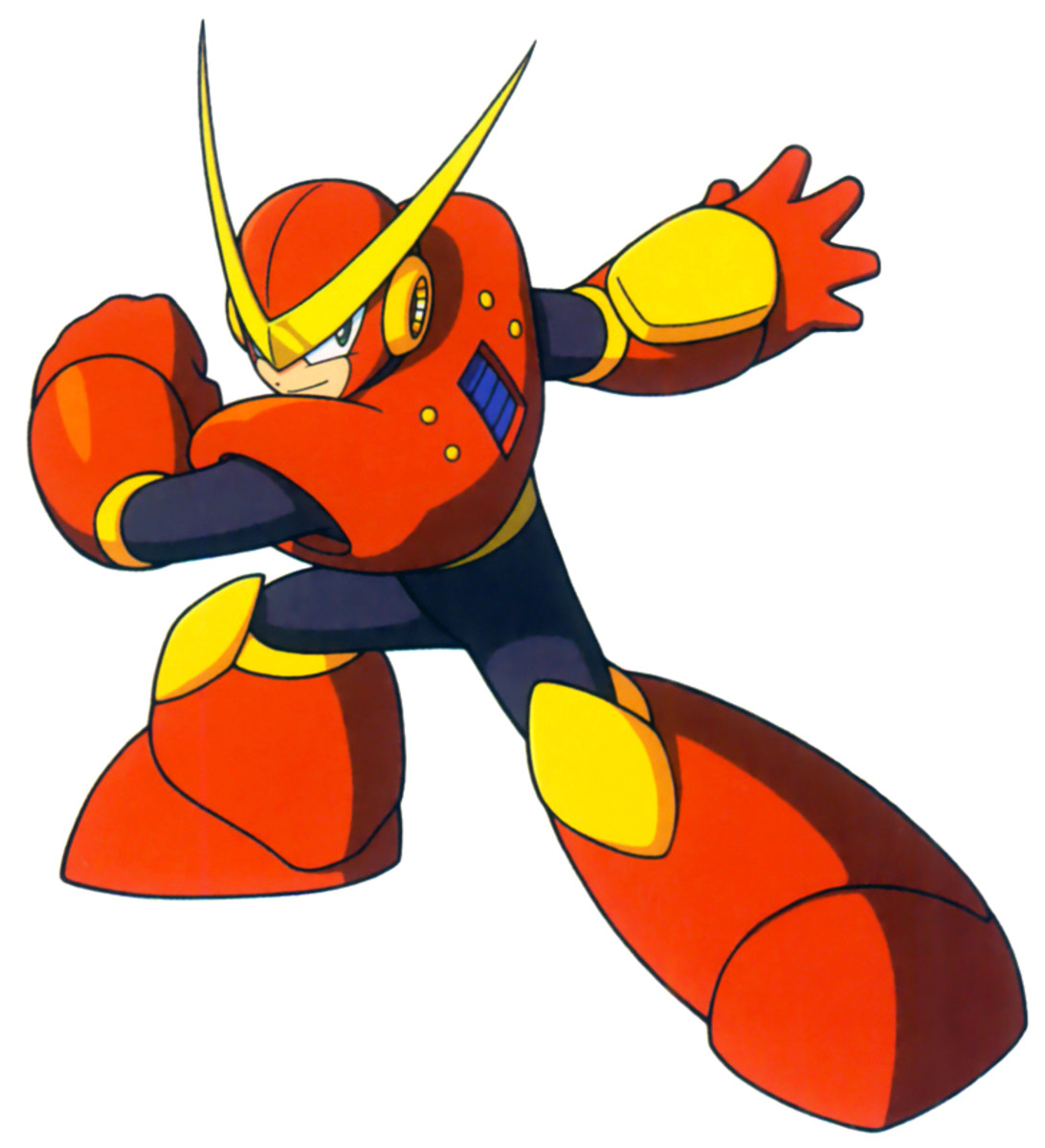 Quick Man is a speedster in the mold of comic book heroes such as The Flash and Quicksilver.