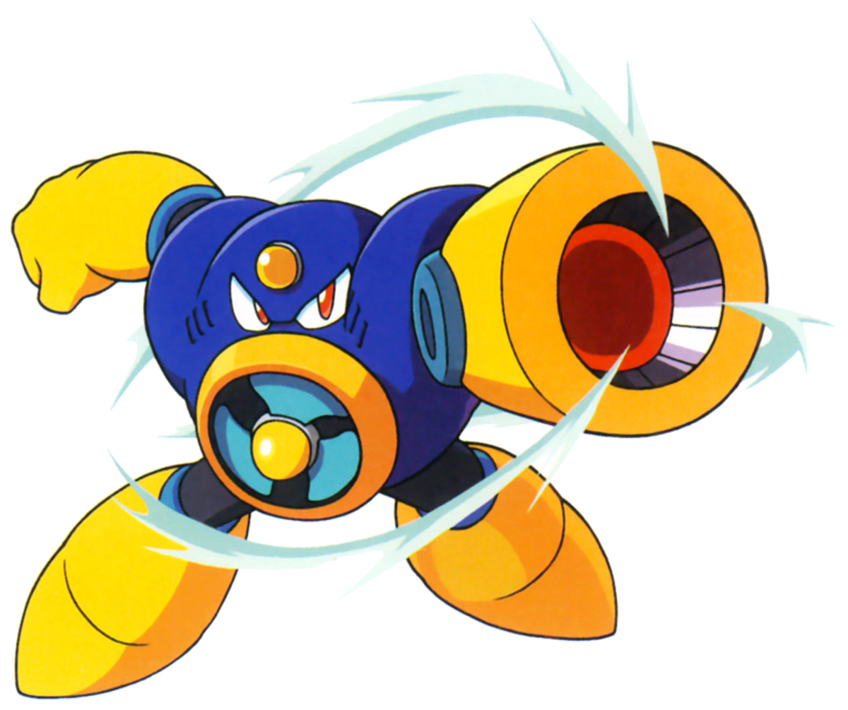 Air Man looks like a giant electric fan. He uses his giant metallic fan blades to generate tornadoes.