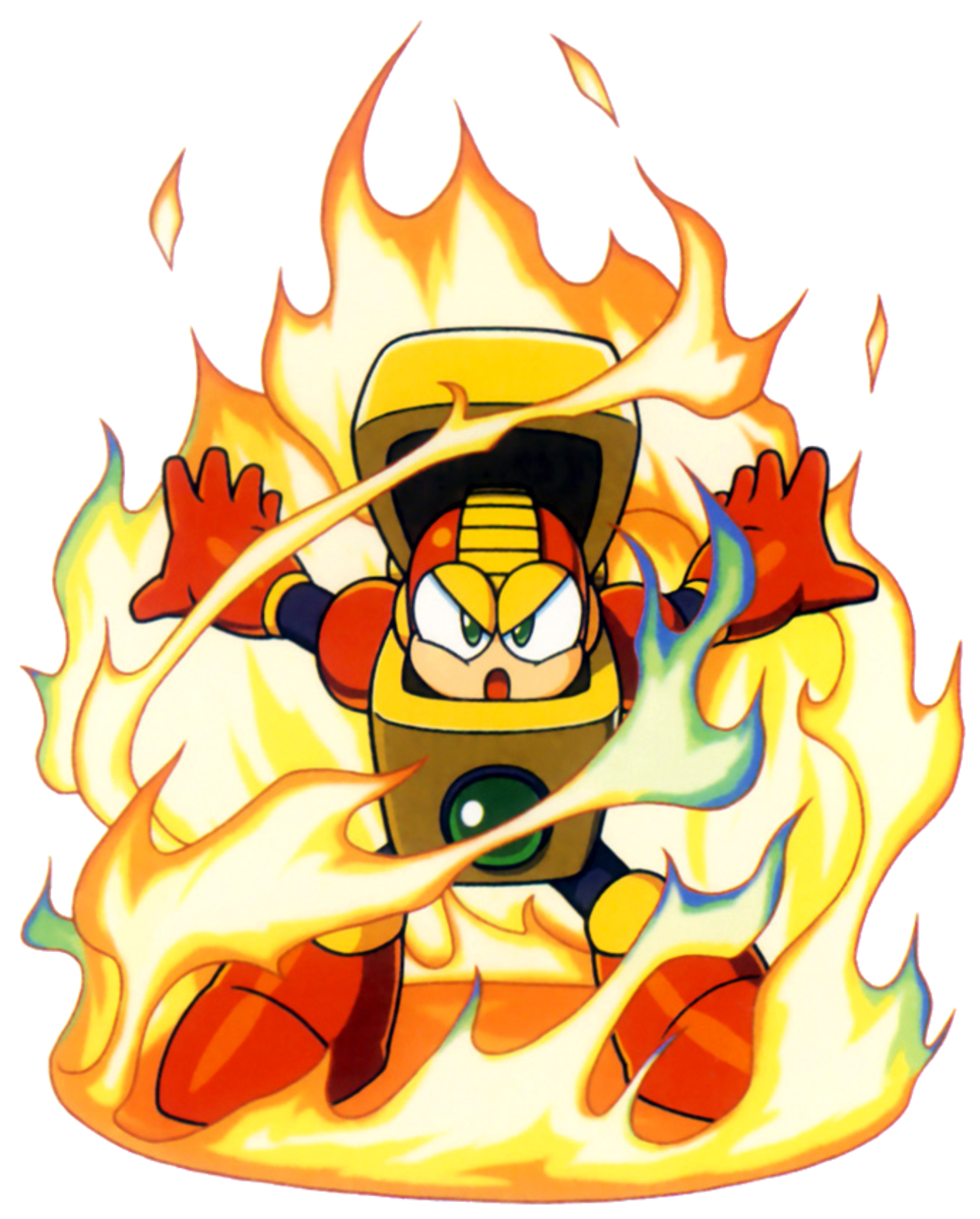 Heat Man uses nuclear energy to produce temperatures of 12,000 degrees Celsius.