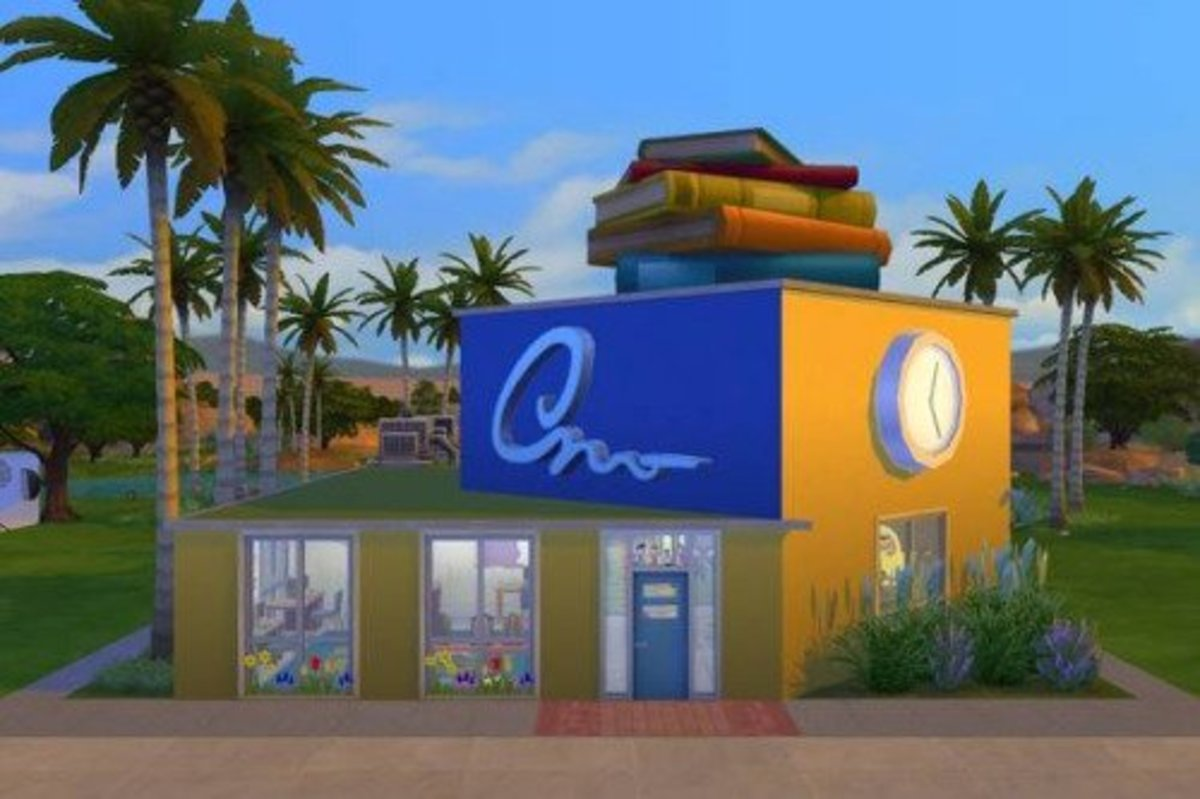 "Oasis Springs Elementary school, available on the Gallery under ""brittpinkie."""