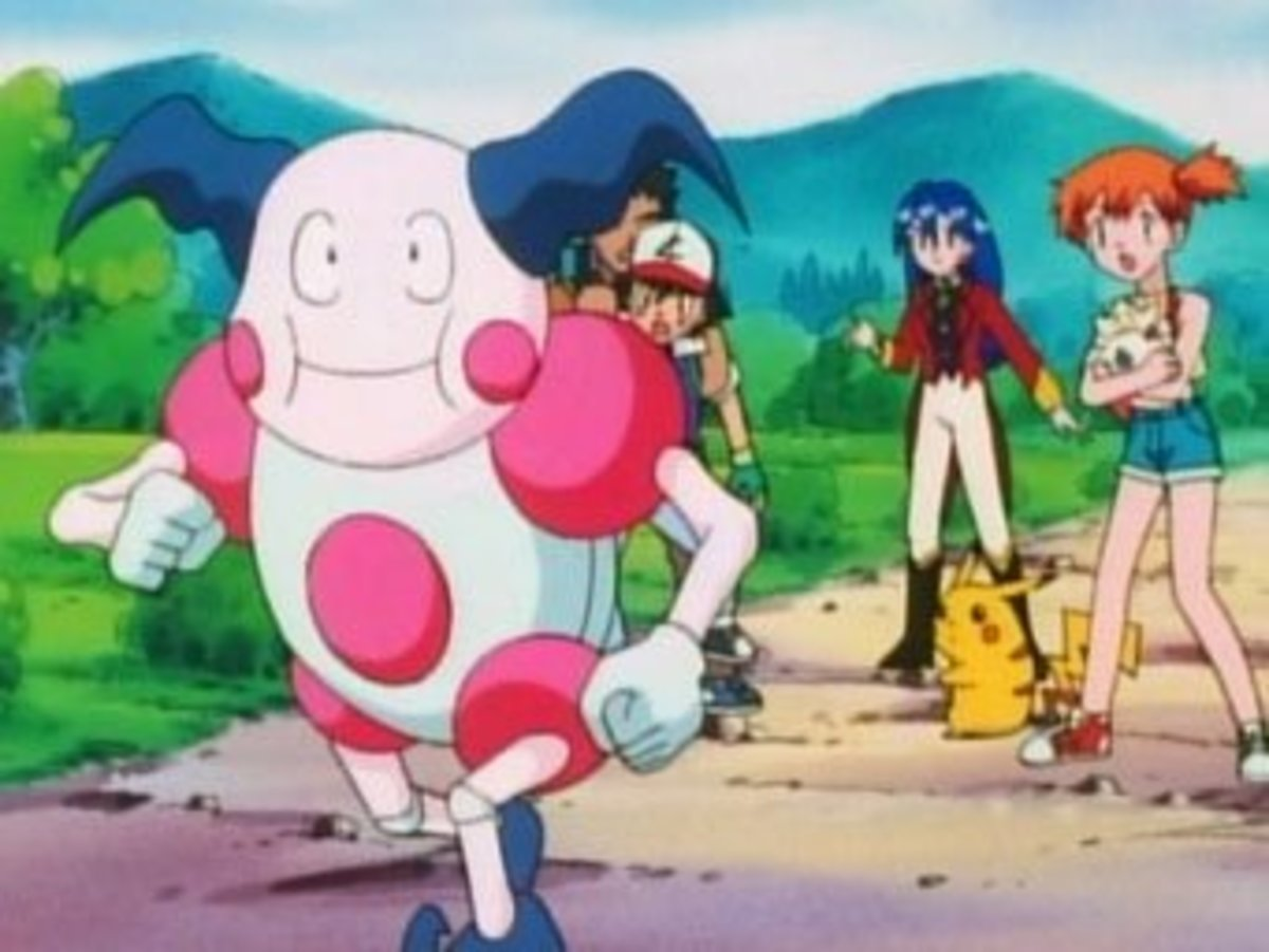 Mr. Mime in action in the Pokémon anime series
