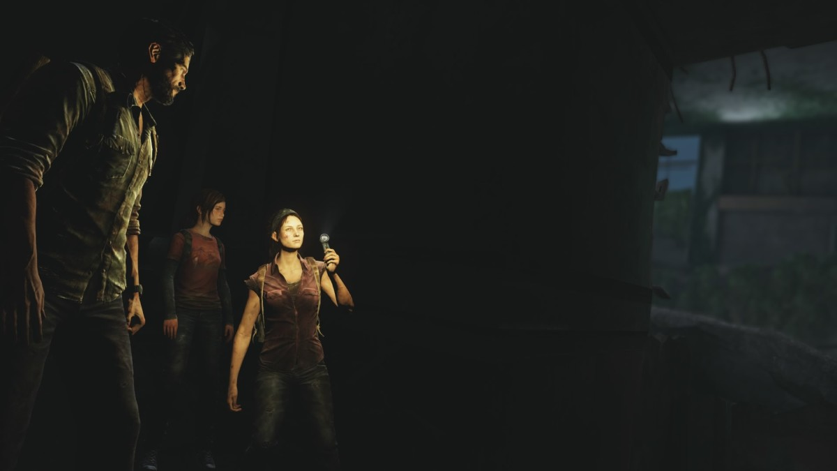Joel, Ellie, and Tess from the remastered version of the game.
