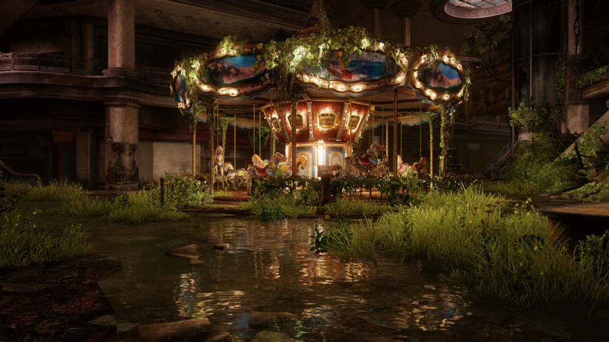 A carousel found in the downloadable content Left Behind.