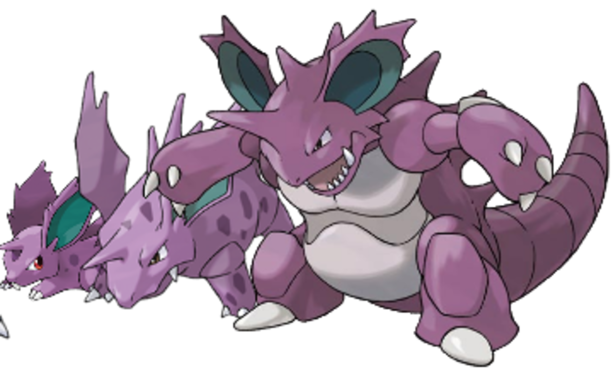 Nidoran, Nidorino, and Nidoking