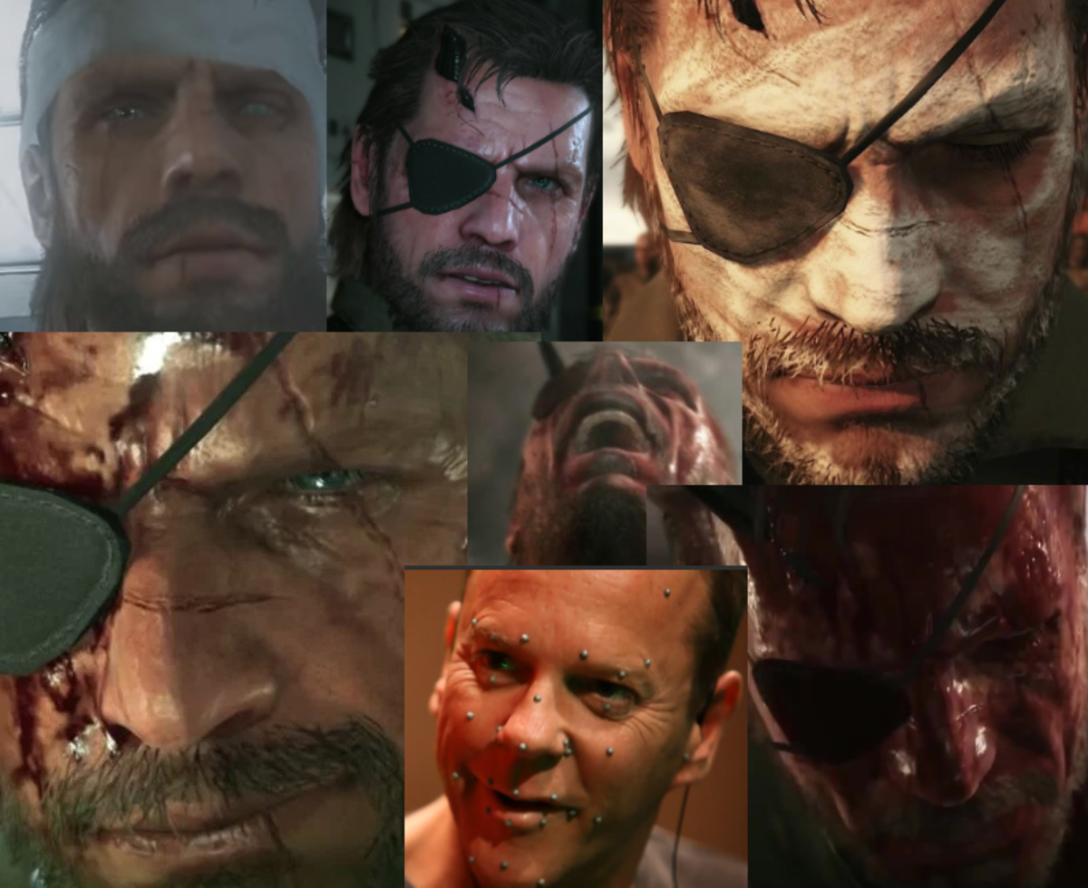 Kiefer using facial capture tech to help Snake express the gamma of emotions in Metal Gear Solid V: The Phantom Pain