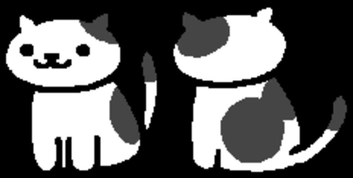 The in-game sprite for Spots in Neko Atsume