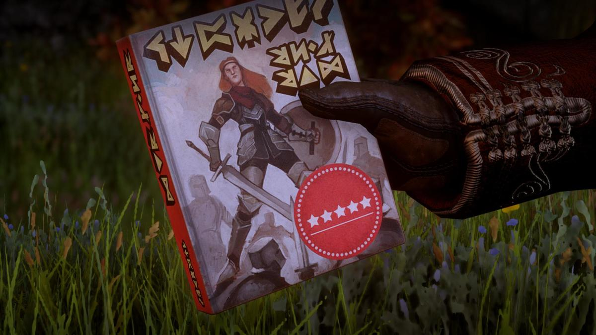 "Varric's book, ""Guilty Pleasures"" sidequest"