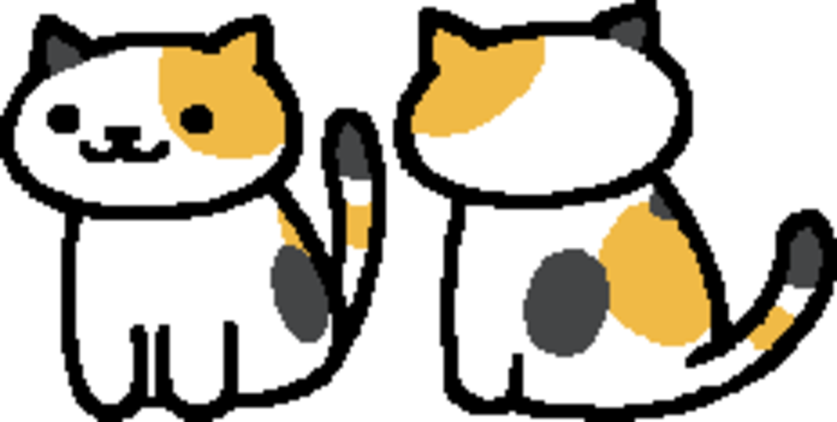 The in-game sprite for Sunny in Neko Atsume