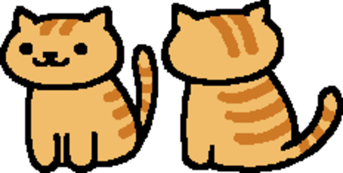 """The in-game sprite for Fred in """"Neko Atsume."""""""