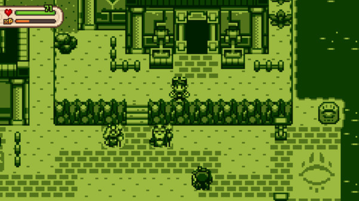 Game like it's the olden times of monochrome color palettes and pixelated graphics.