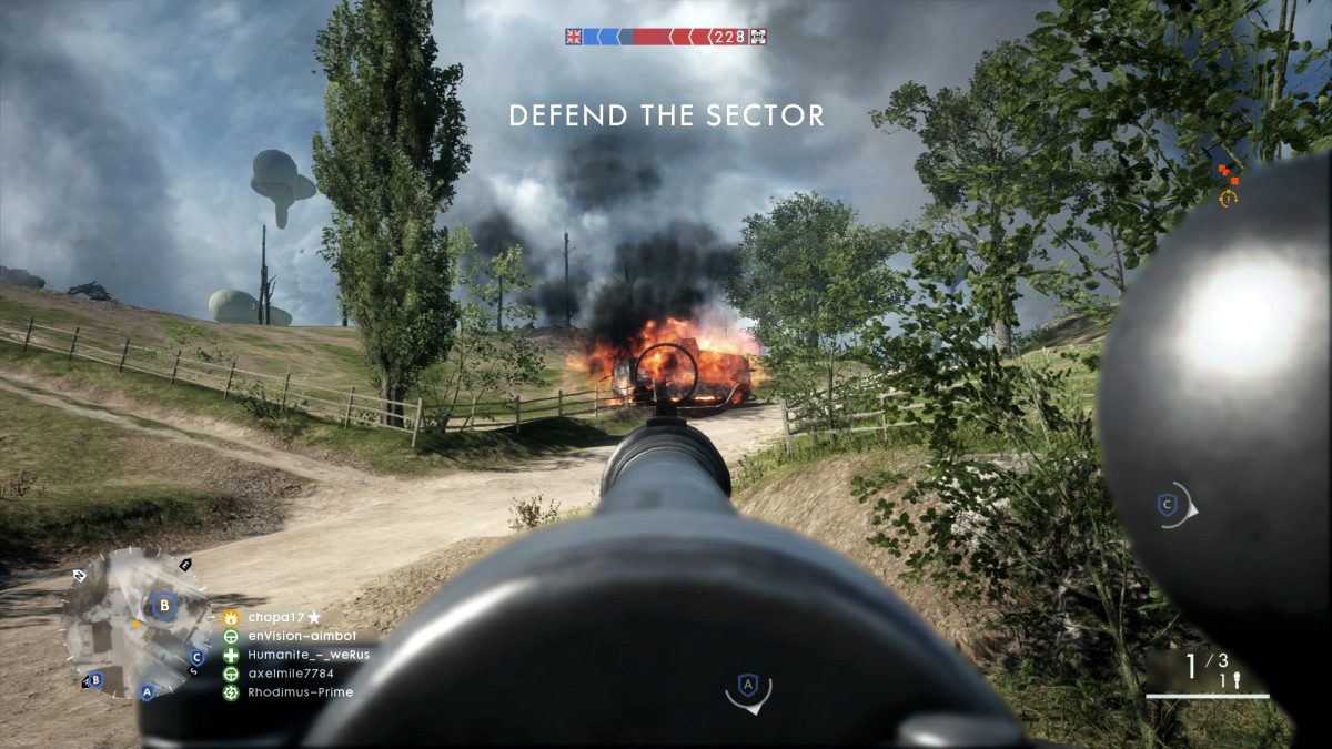 Taking out a tank with the AT rocket gun.