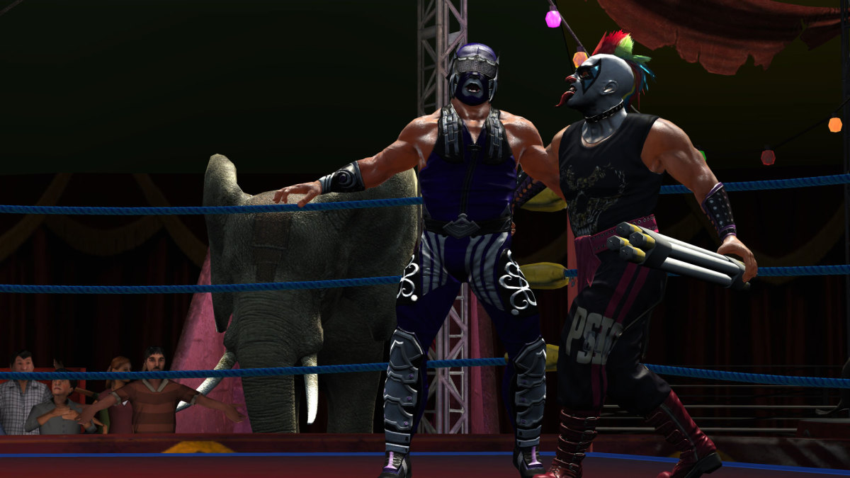 Abismo Negro, Psycho Clown and an Elephant. Sadly there are no good photos of Jack, ruining my lead in!