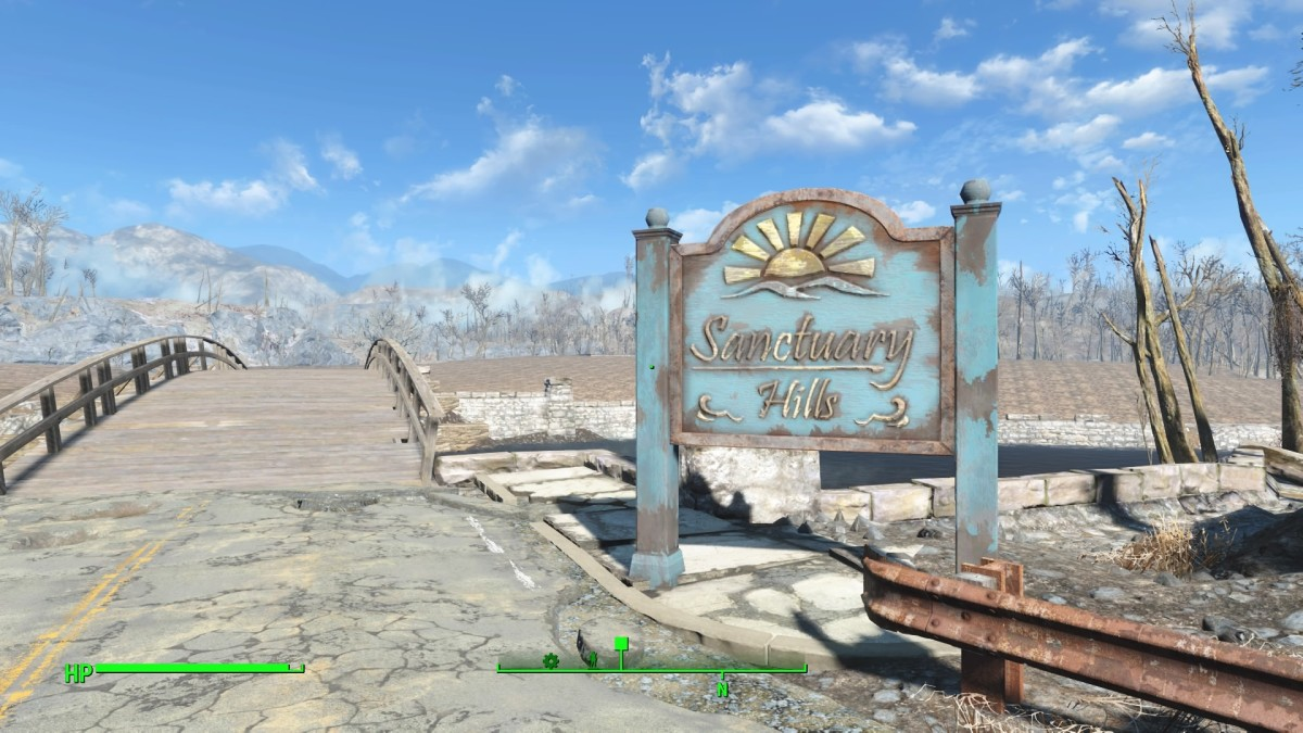 The Clean & Smooth mod working its magic on Sanctuary Hills.