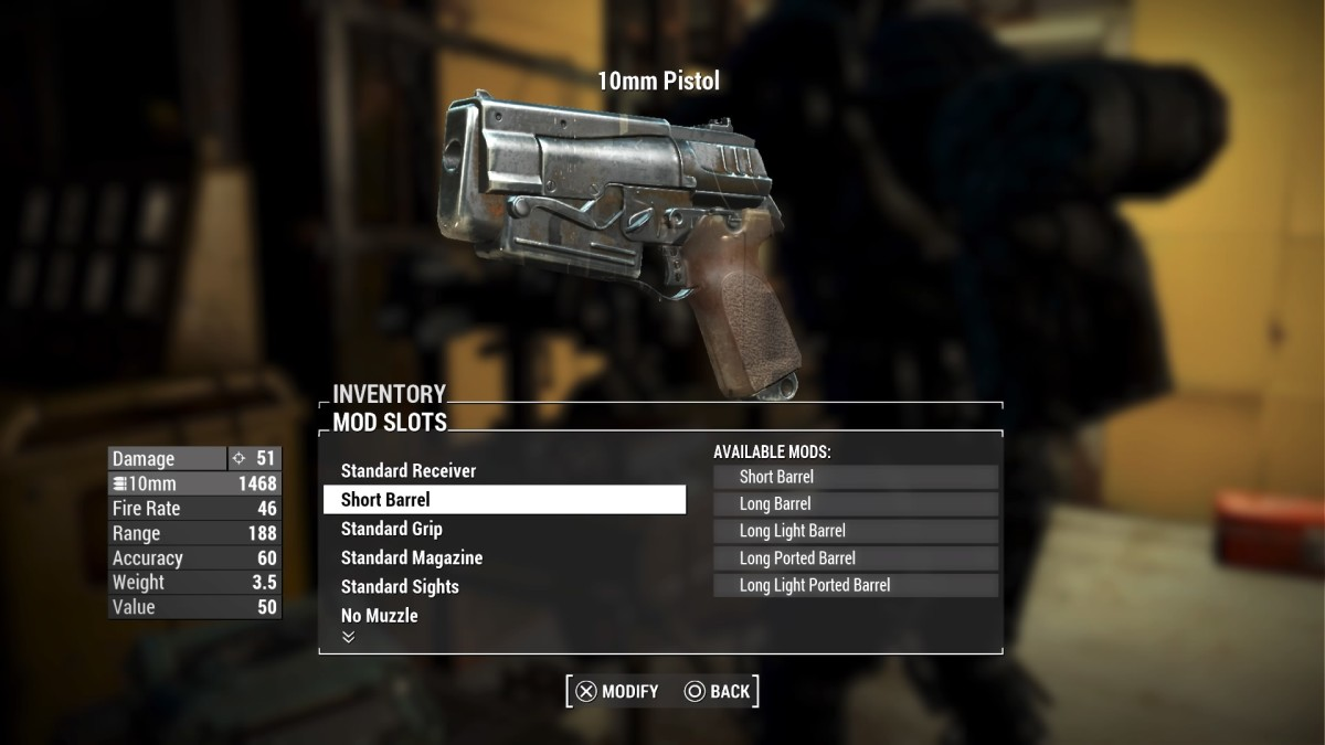 A guide for learning all about Ballistic Weapons in Fallout 4 when modifying these types of weapons.