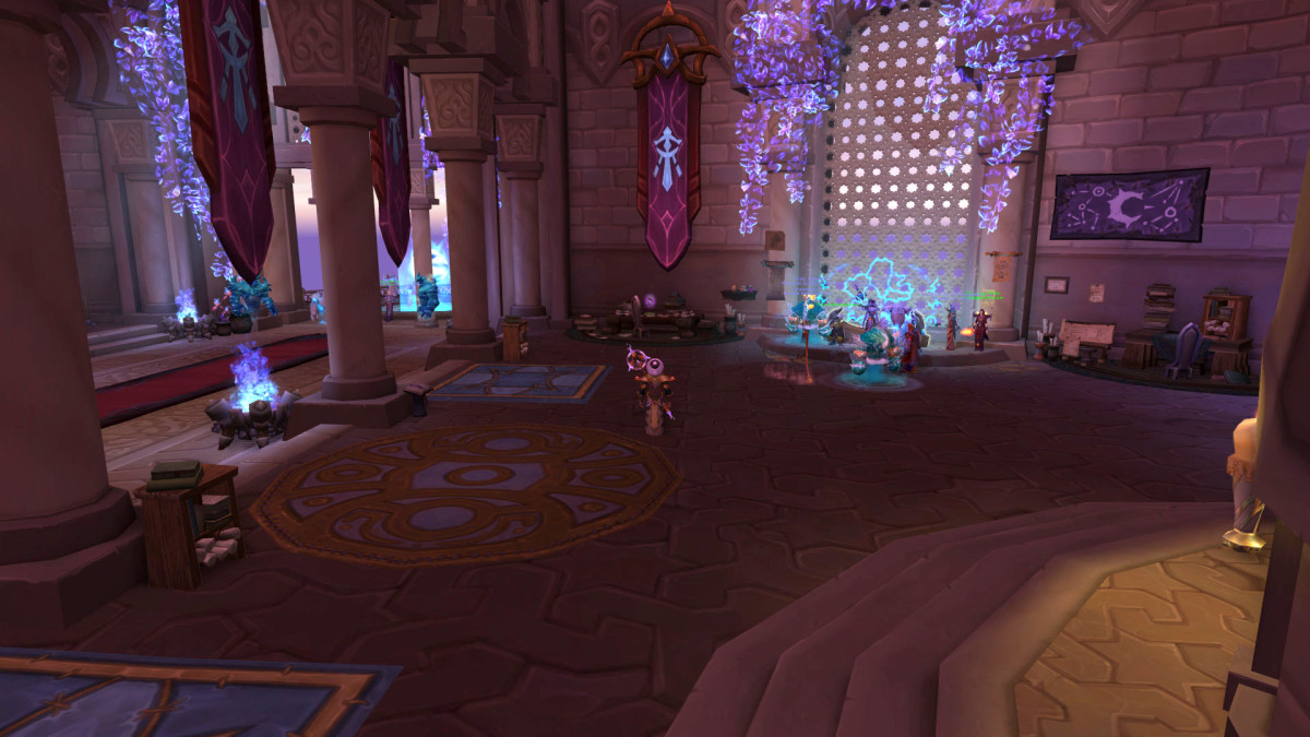 The Mage Class Hall in World of Warcraft: Legion.