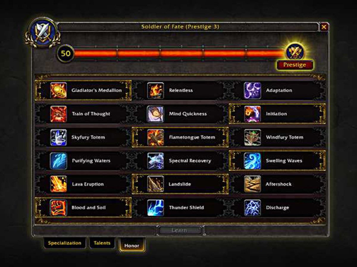 The brand new PvP talent system in World of Warcraft: Legion.