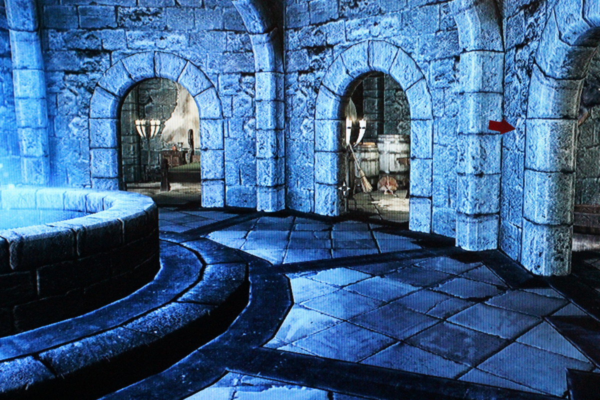 Upon entering the hall, follow the arrow to Faralda's quarters.