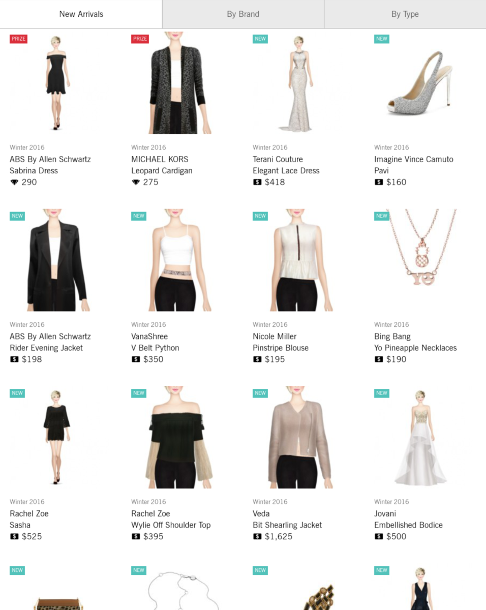 You can buy garments in the Shop tab.