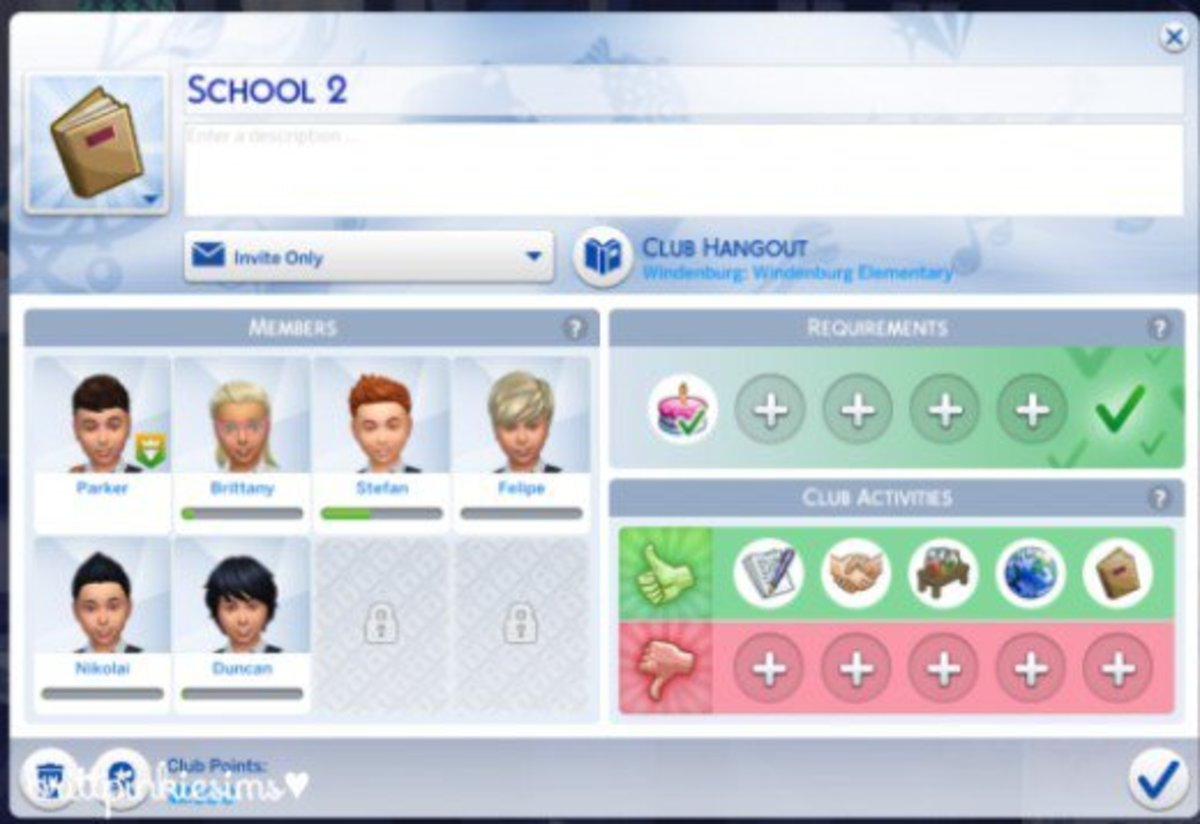 Follow your Sims to school by making clubs in Get Together!