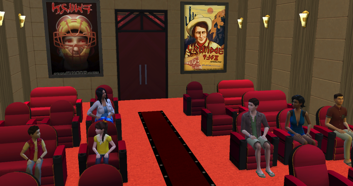 My cinema, filled with the Cinemaphile club autonomously gathering!