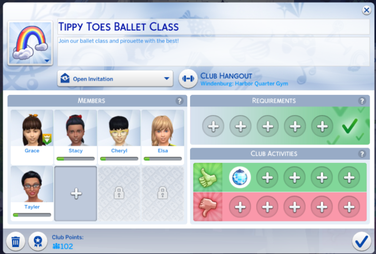 Make a ballet club for your little girl Sims!