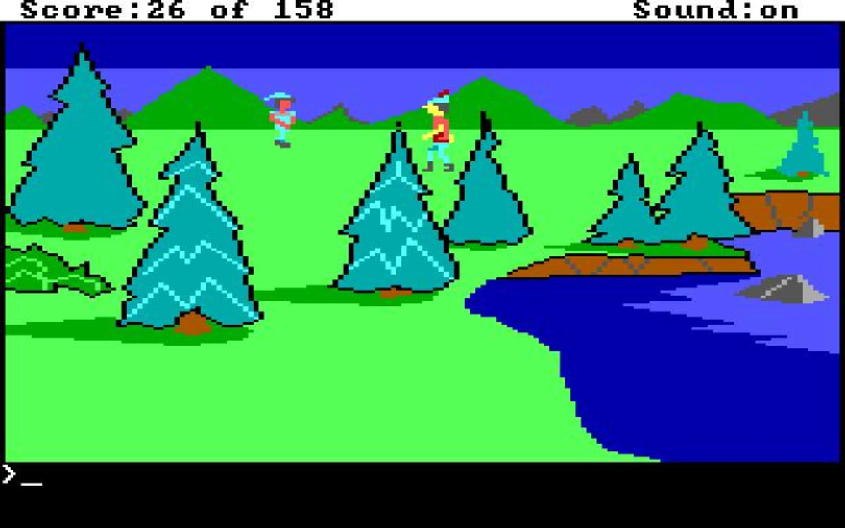 Screenshot of King's Quest.