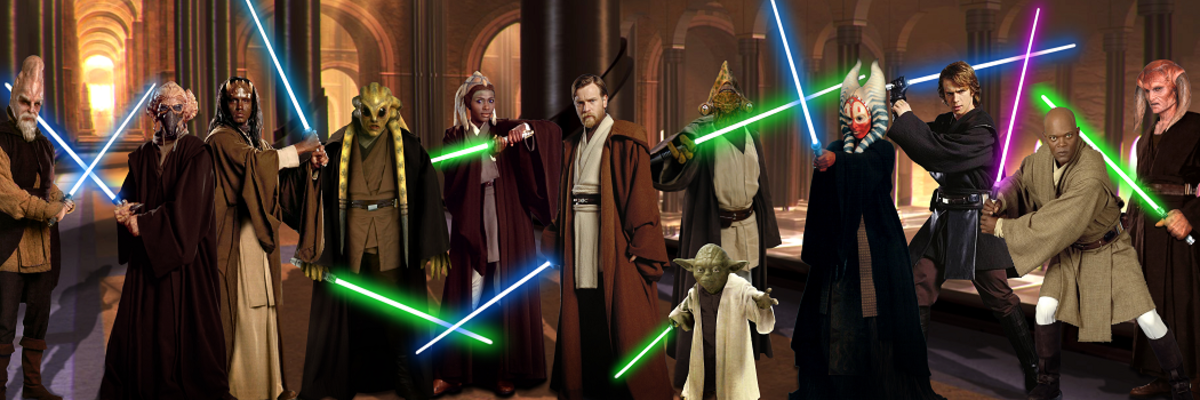 Here's a Jedi group photo. Smile for the camera, guys!