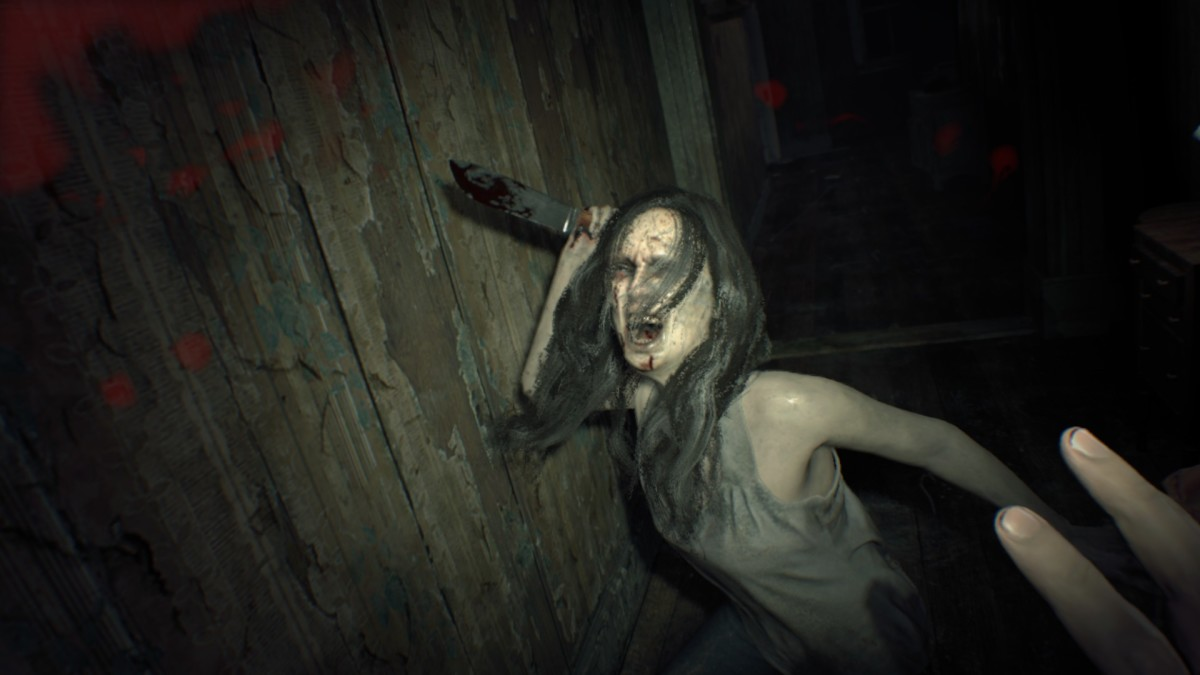 "First-person gameplay from ""Resident Evil 7."""