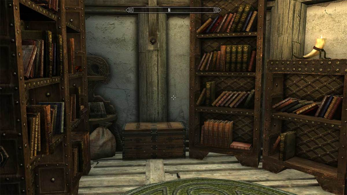 My personal library in the game. You can enjoy such a facility if you have the Homestead DLC installed.