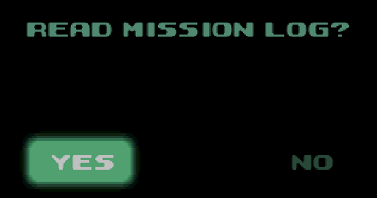 Good ol' mission log