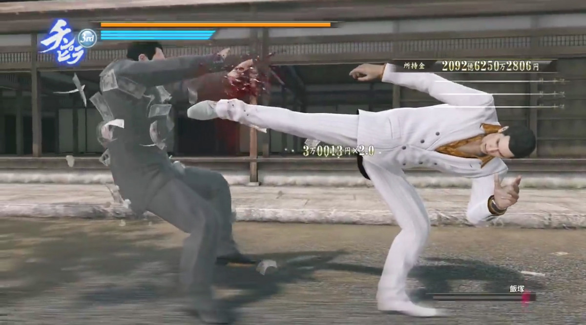 Combat in the Yakuza series is flexible enough to cater to most players. Shown here is a deathly kick in Yakuza 0.