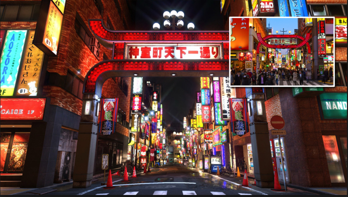 Kamurocho is based on Tokyo's notorious Kabukicho red light district.