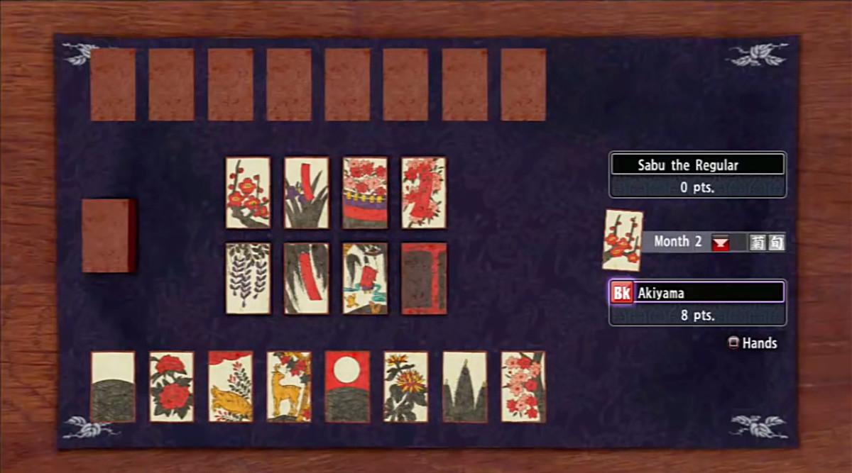 "The very Japanese card game of Koi-Koi. I've never heard of this until I played ""Yakuza Ishin."""