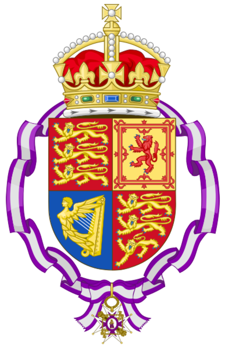 The coat of arms before Queen Victoria