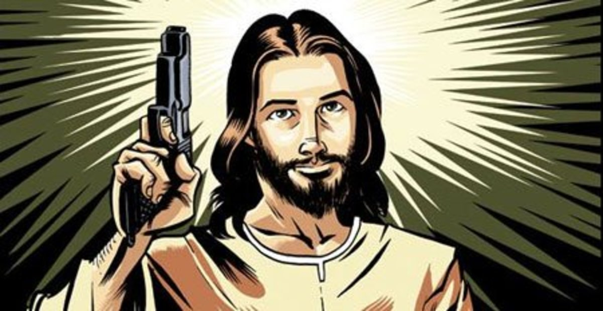 "Hey, it's what came up on Google for ""holy gun!"" Don't look at me like that!"