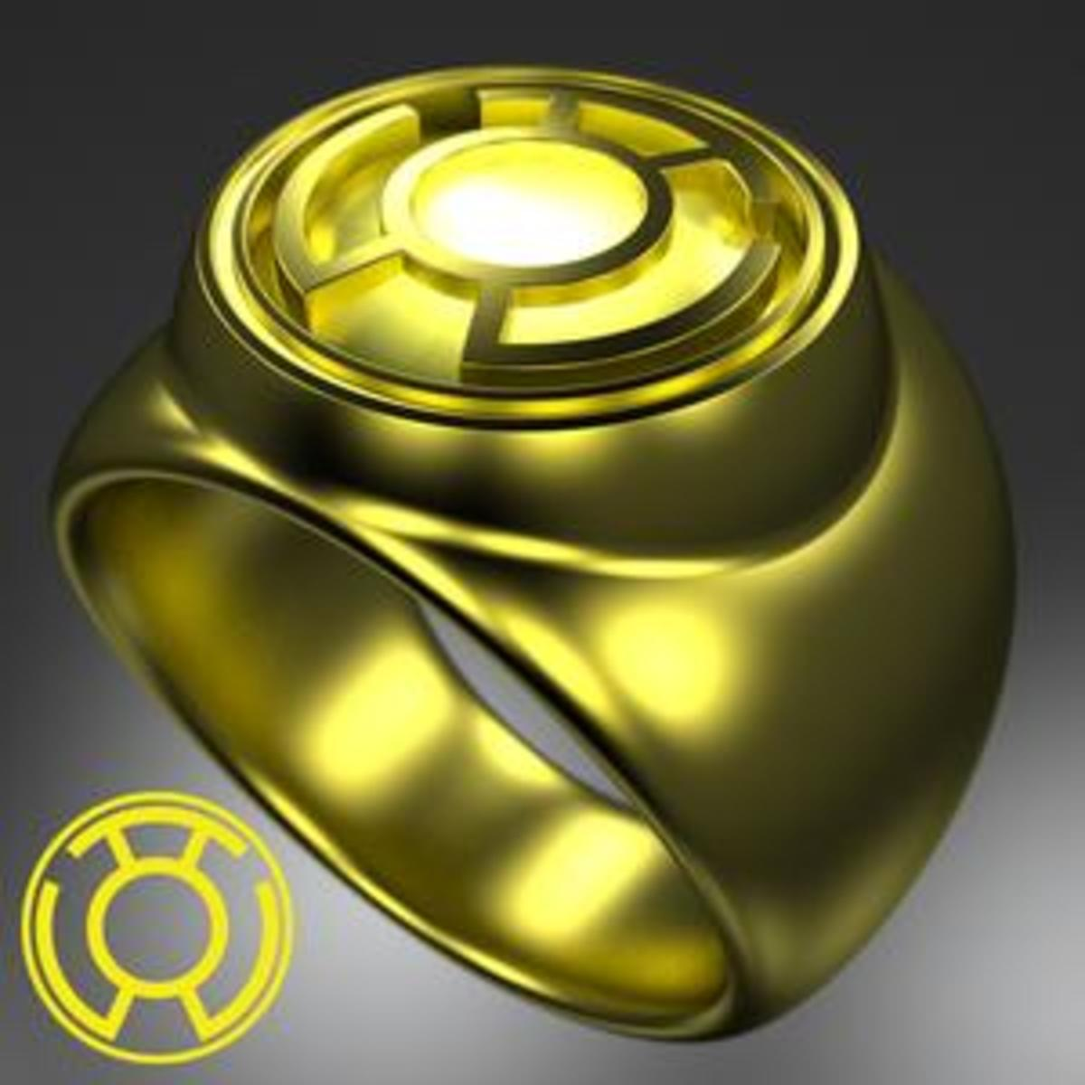 Yellow Lantern Corps Power Ring