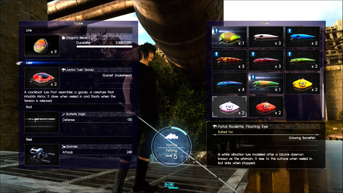 """The, """"Bait and Tackle"""", menu houses a lot of information requiring a more in-depth article and a lot more research!"""