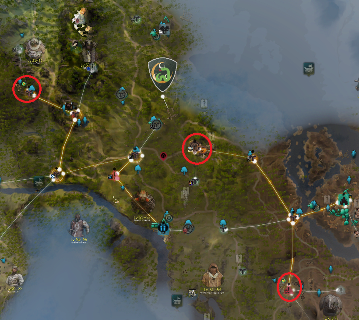 Here are the locations of the three zinc nodes in Mediah.