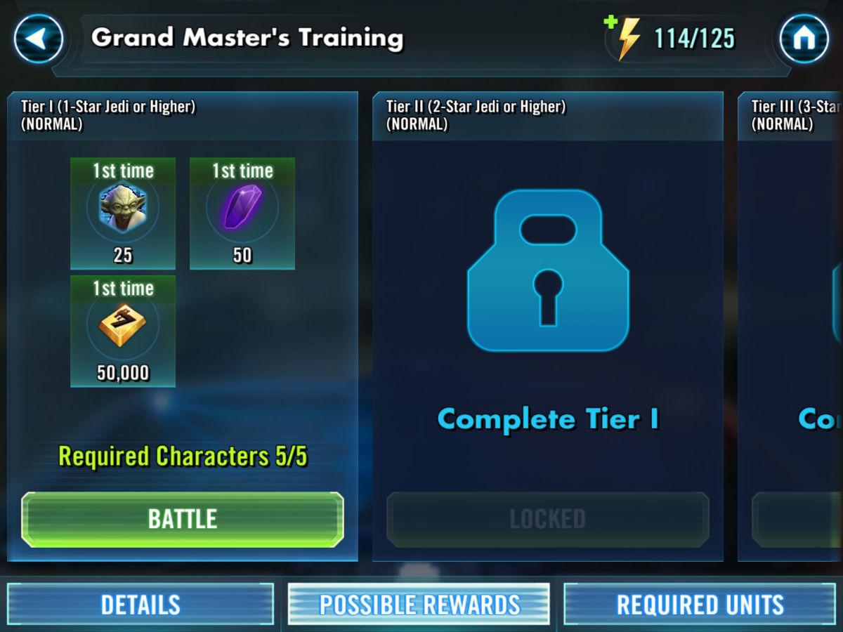 Grand Master's Training Rewards
