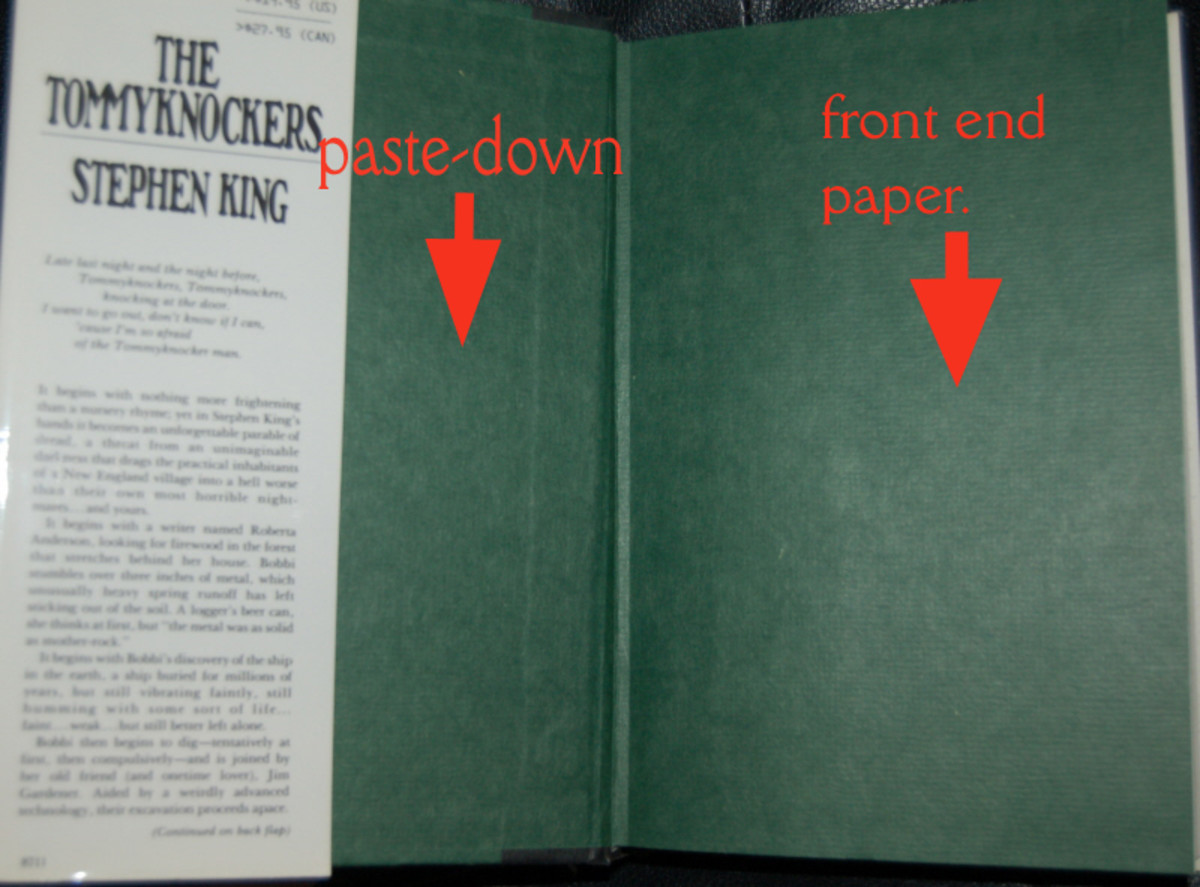 Paste-downs and front and rear end papers. (graphic by AMB)