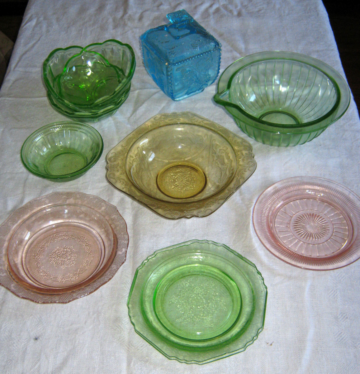 Depression Glass is a vintage collectible but not an antique.