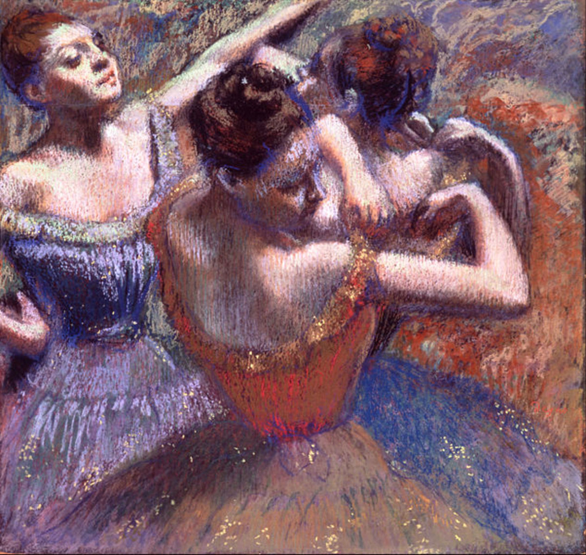 """The Dancers"" Edgar Degas, about 1899. Pastel on paper."