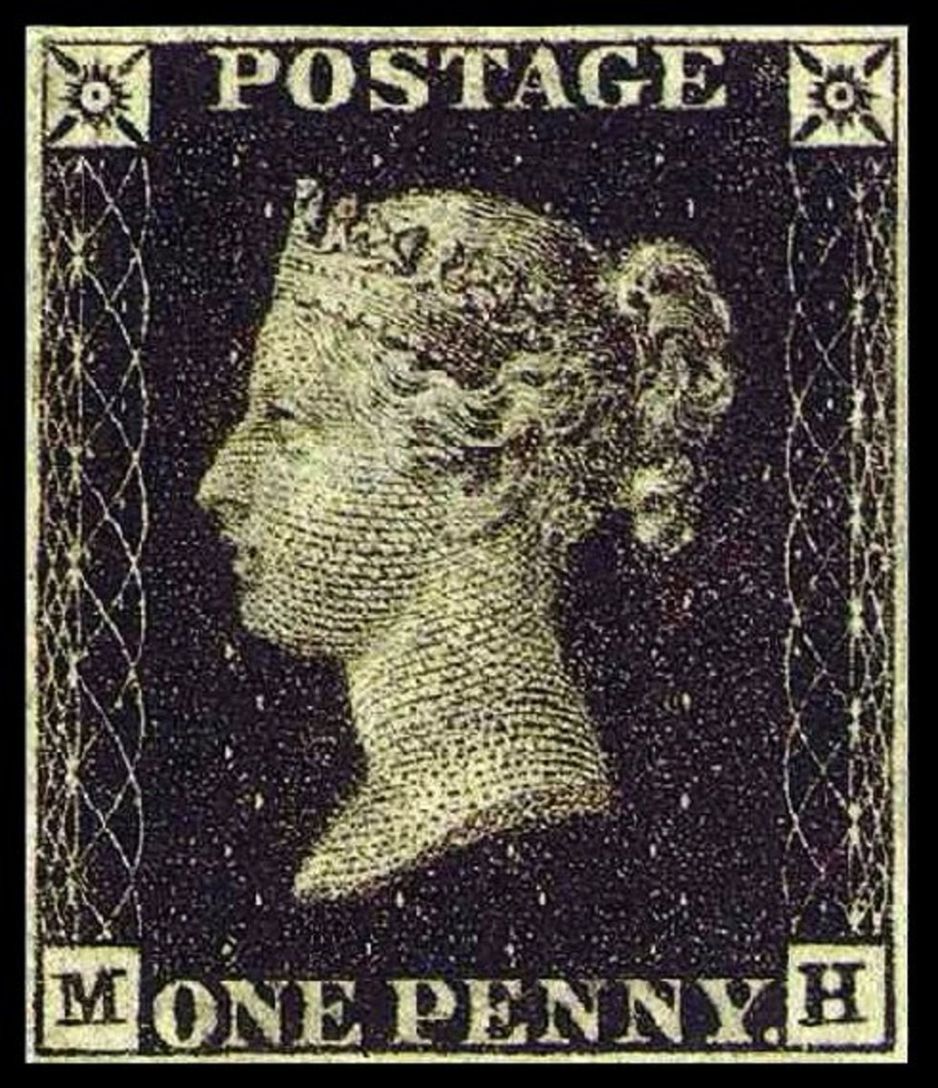 Penny Black, the World's First Postage Stamp, 1840. Courtesy Wiki Commons